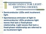 semiconductor light emitting diodes