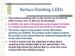 surface emitting leds