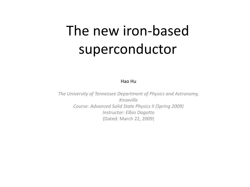 the new iron based superconductor l.