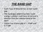 the band gap16