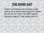 the band gap18