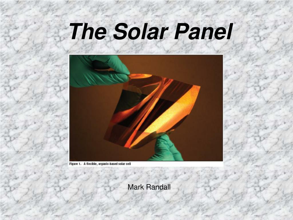 the solar panel l.