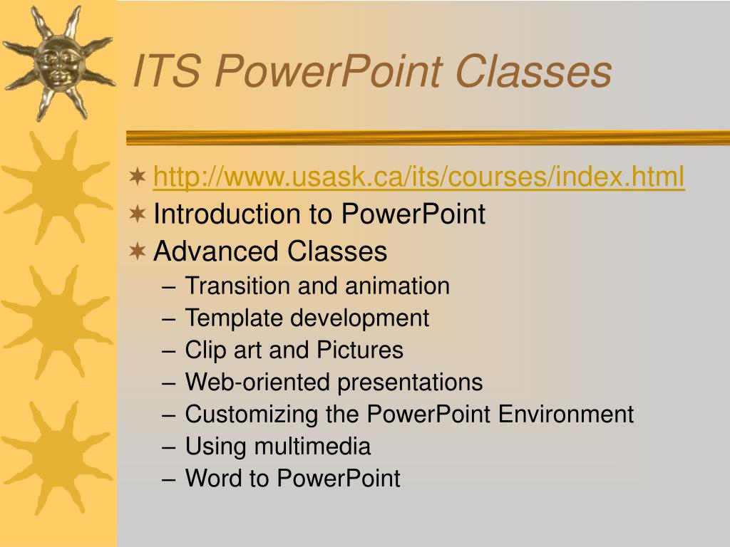 ITS PowerPoint Classes