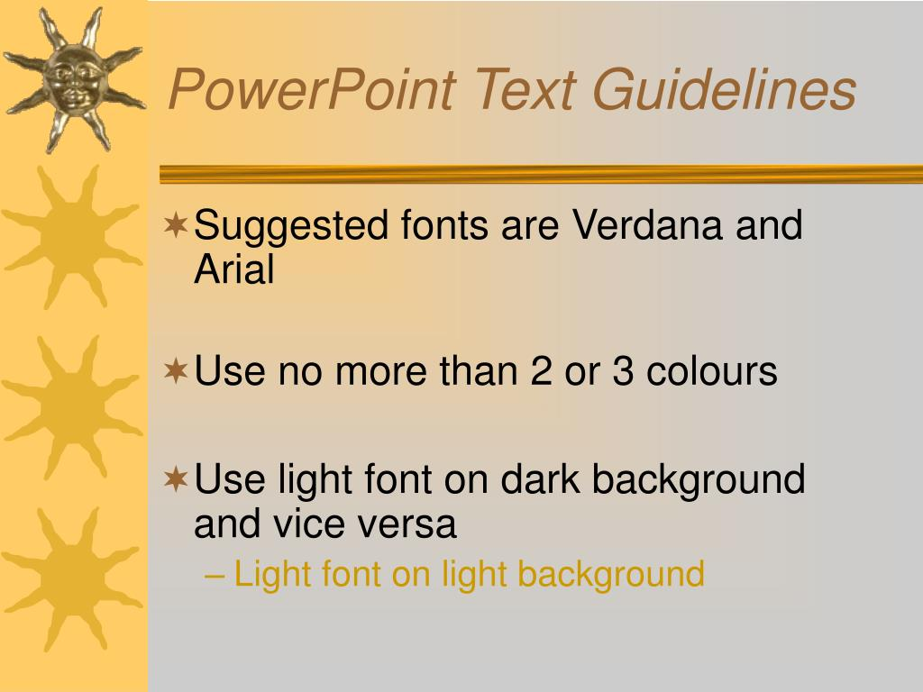PowerPoint Text Guidelines