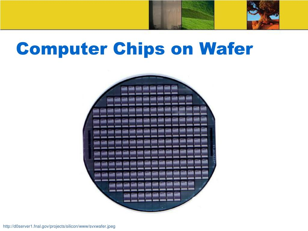 Computer Chips on Wafer