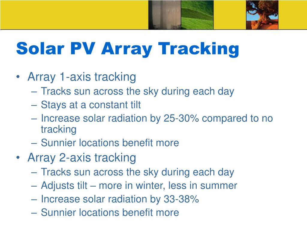 Solar PV Array Tracking
