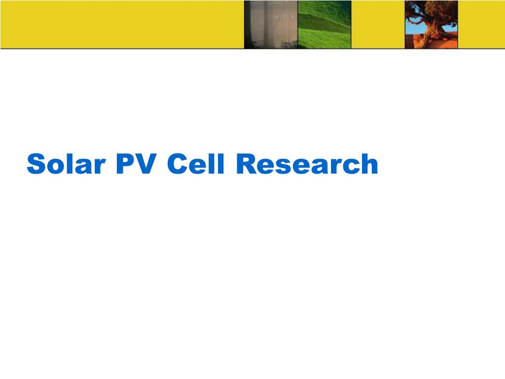 Solar PV Cell Research