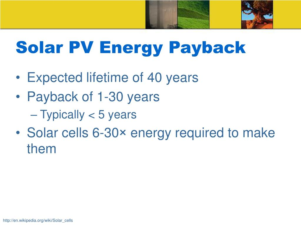 Solar PV Energy Payback