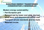 european energy transformed conservation renewables