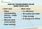 how hd transformed solar more from less