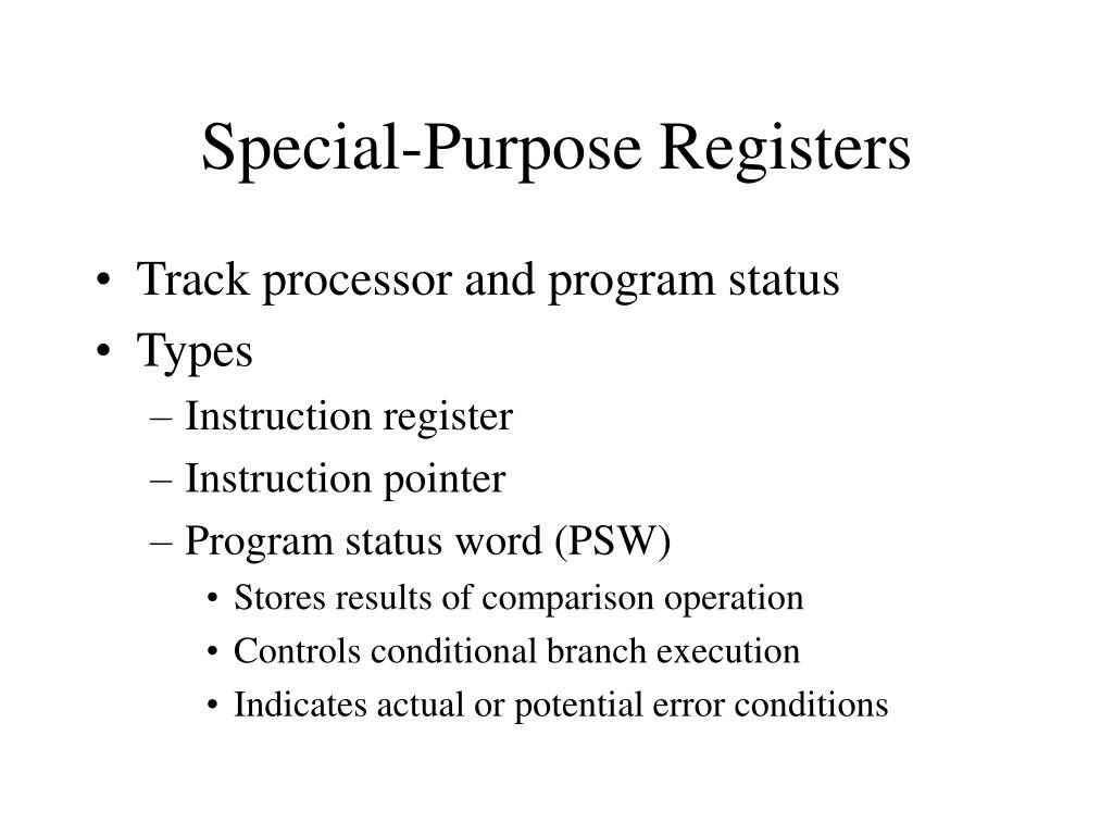 Special-Purpose Registers