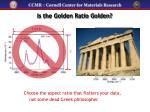 is the golden ratio golden