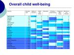 overall child well being