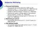 subjective well being