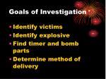 goals of investigation63