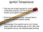 ignition temperature