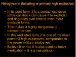 nitroglycerin initiating or primary high explosive