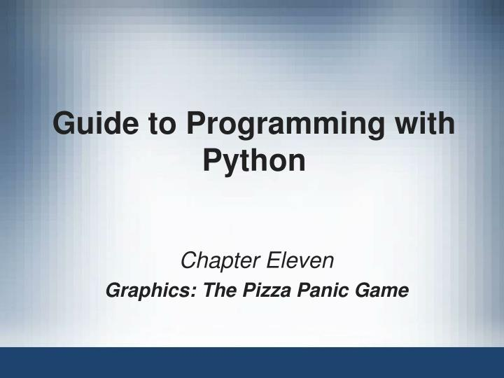 guide to programming with python n.