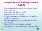 central annual refiling survey cars