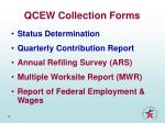 qcew collection forms