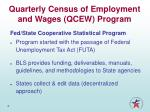 quarterly census of employment and wages qcew program