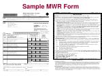sample mwr form