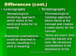differences cont36