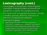 lexicography cont7