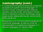 lexicography cont8