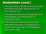 similarities cont32