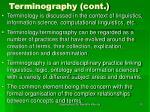 terminography cont20