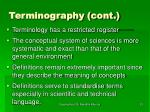 terminography cont23
