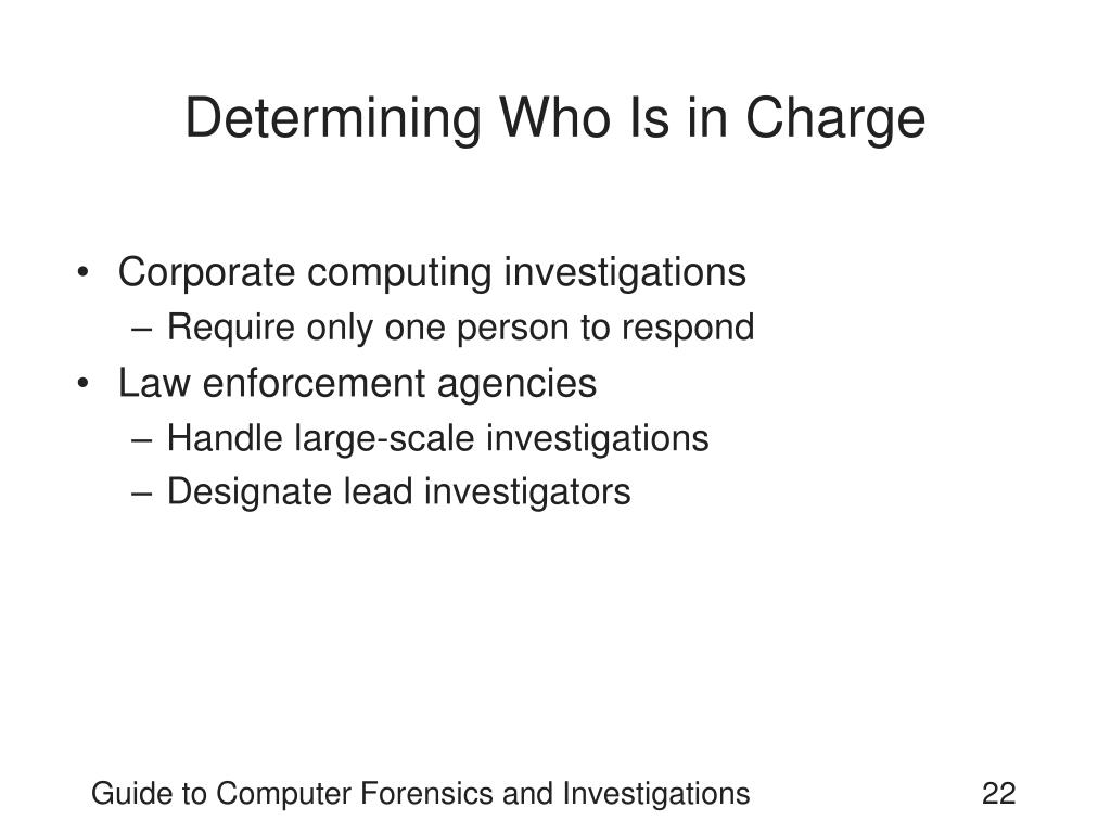 Determining Who Is in Charge