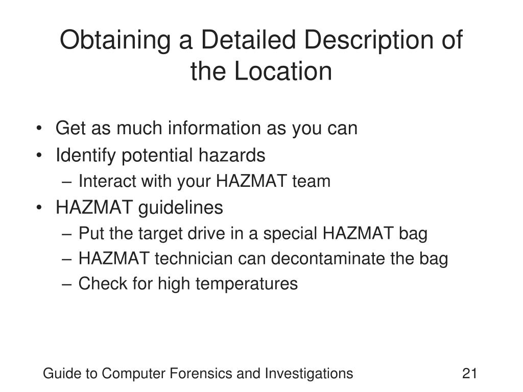 Obtaining a Detailed Description of  the Location
