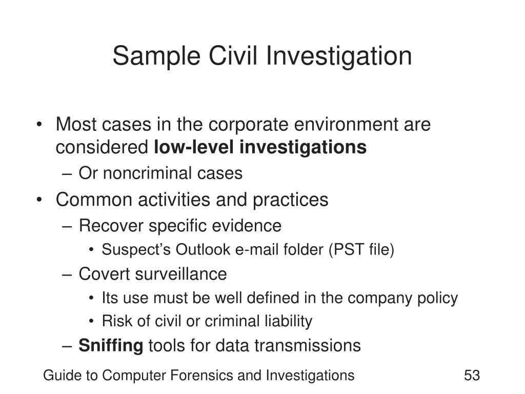 Sample Civil Investigation