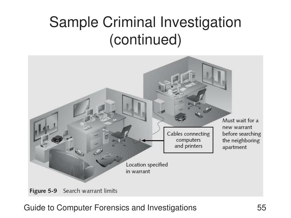 Sample Criminal Investigation (continued)