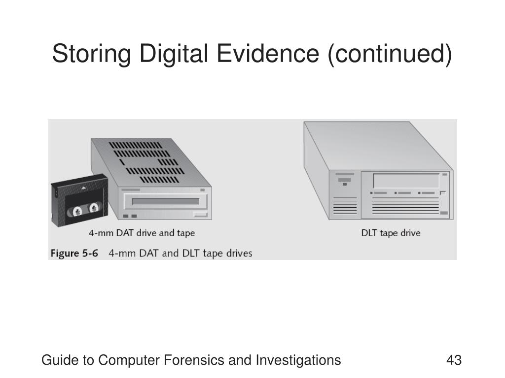 Storing Digital Evidence (continued)