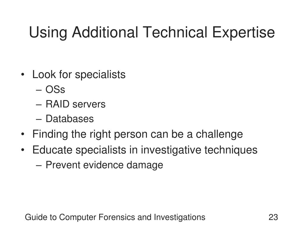 Using Additional Technical Expertise
