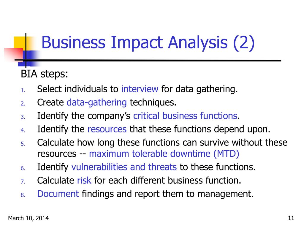 Business Impact Analysis (2)