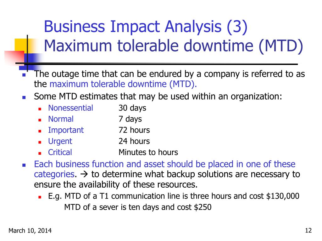 Business Impact Analysis (3)