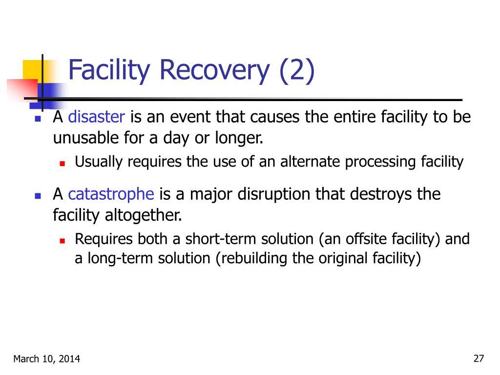 Facility Recovery (2)