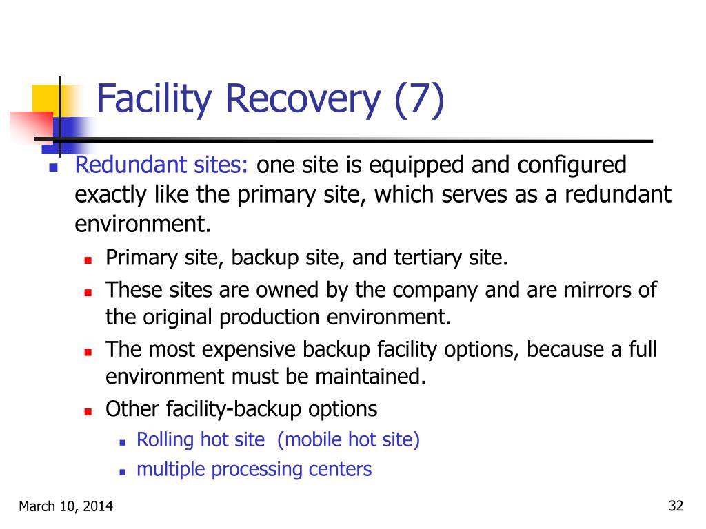 Facility Recovery (7)