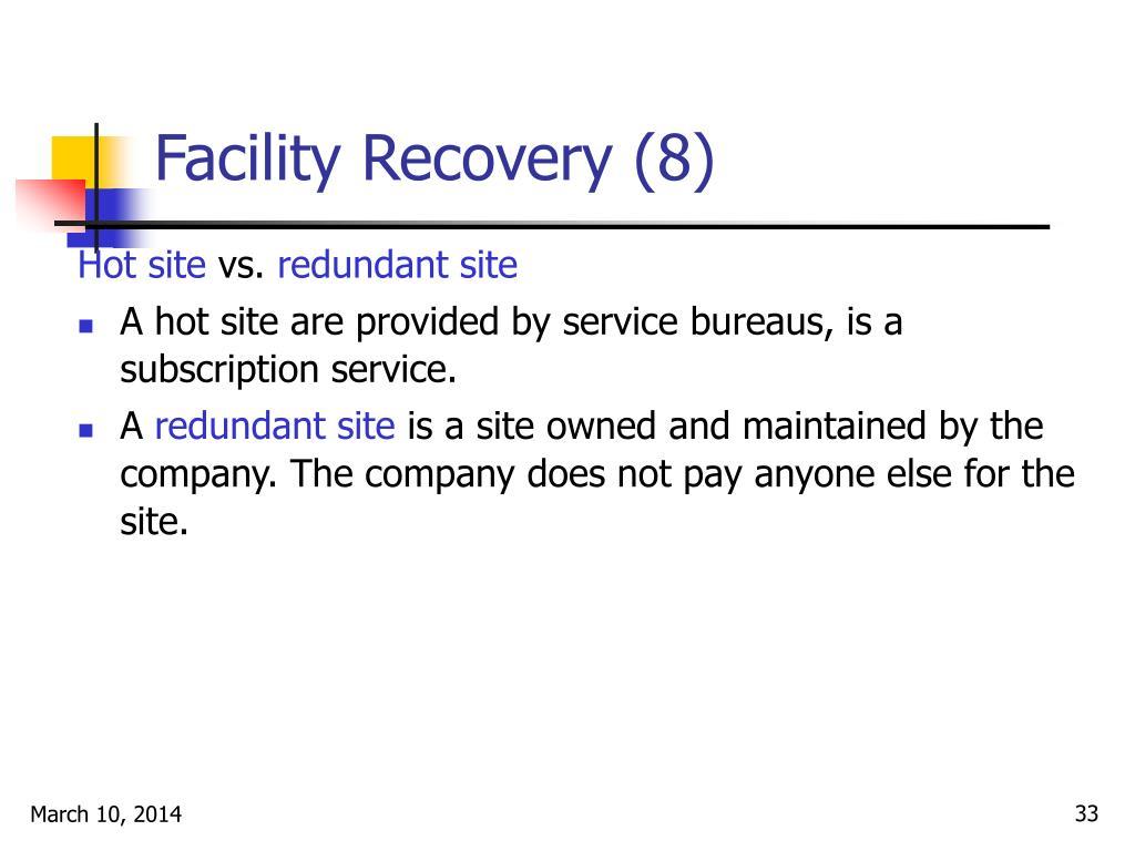 Facility Recovery (8)