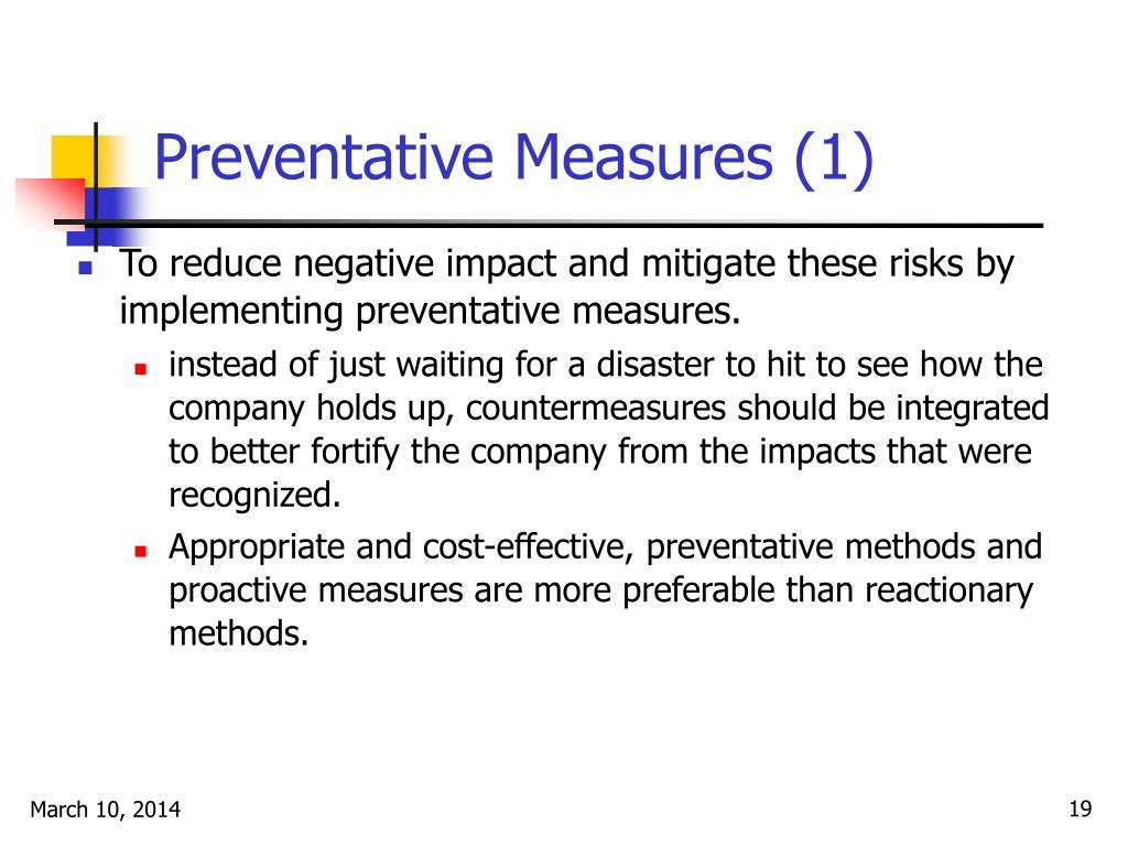 Preventative Measures (1)