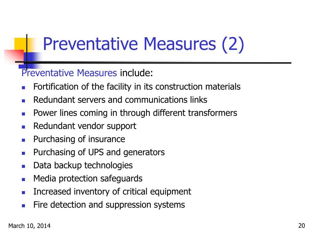 Preventative Measures (2)