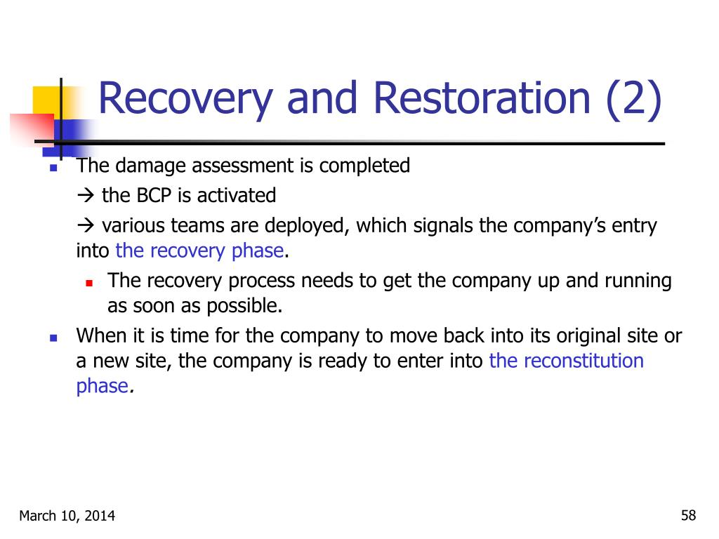 Recovery and Restoration (2)