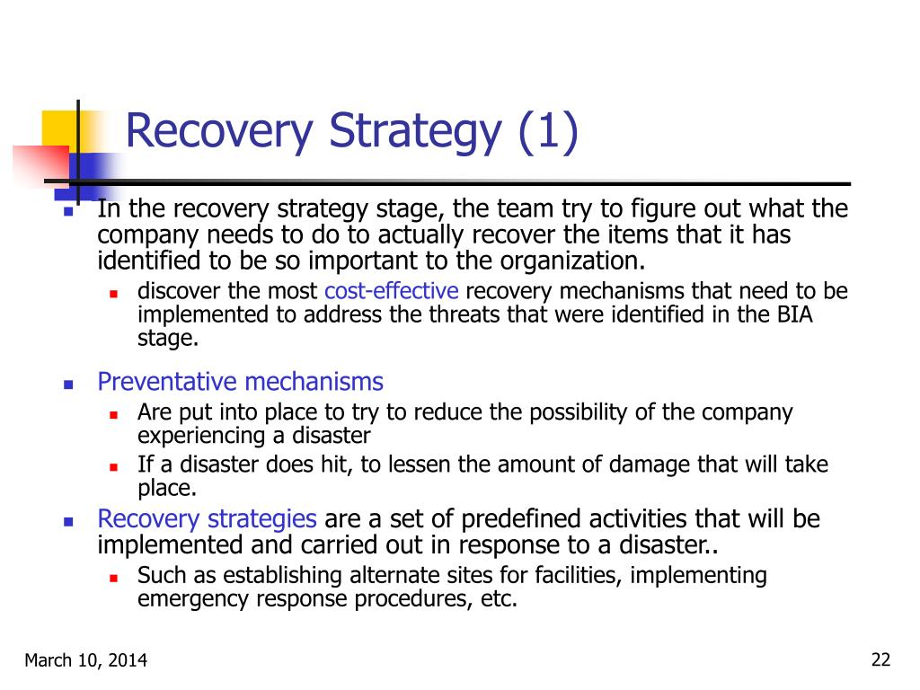 Recovery Strategy (1)