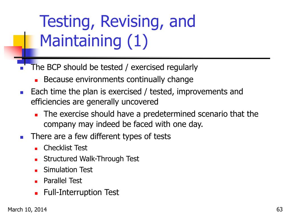 Testing, Revising, and Maintaining (1)