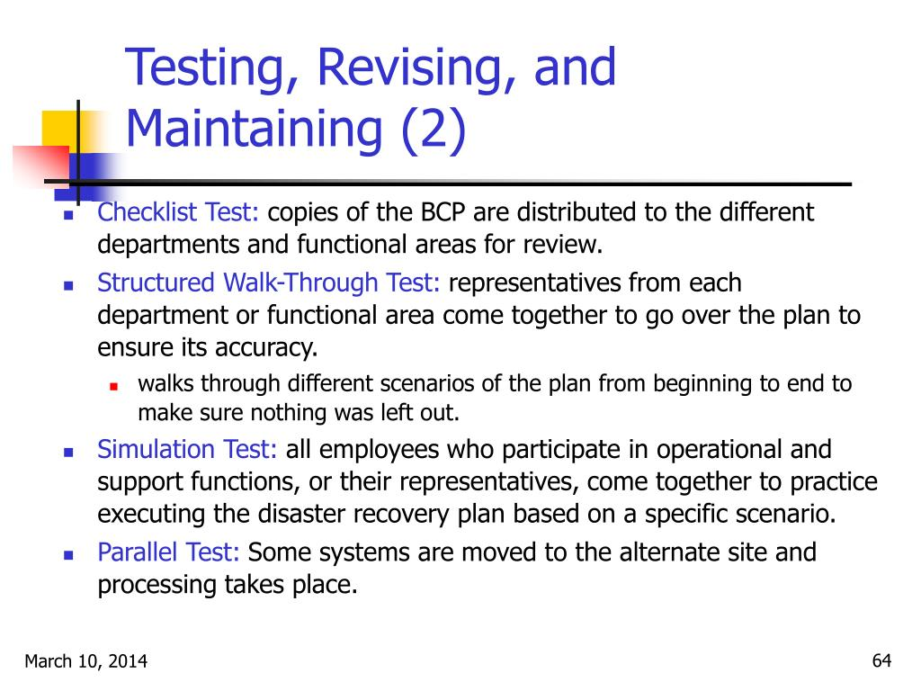 Testing, Revising, and Maintaining (2)