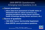 2009 brfss questionnaire emerging core questions n 4